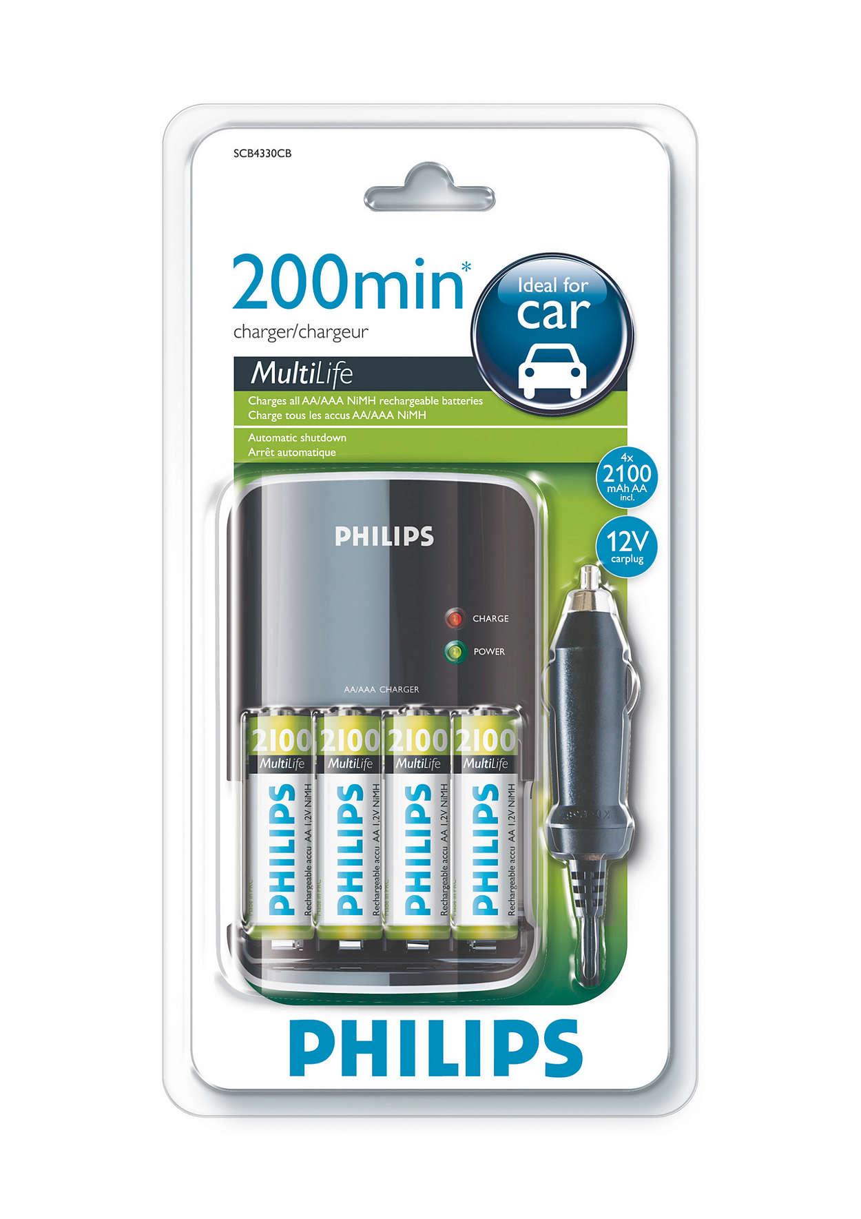 Πλήρης φόρτιση των μπαταριών σας σε λιγότερο από 200 λεπτά