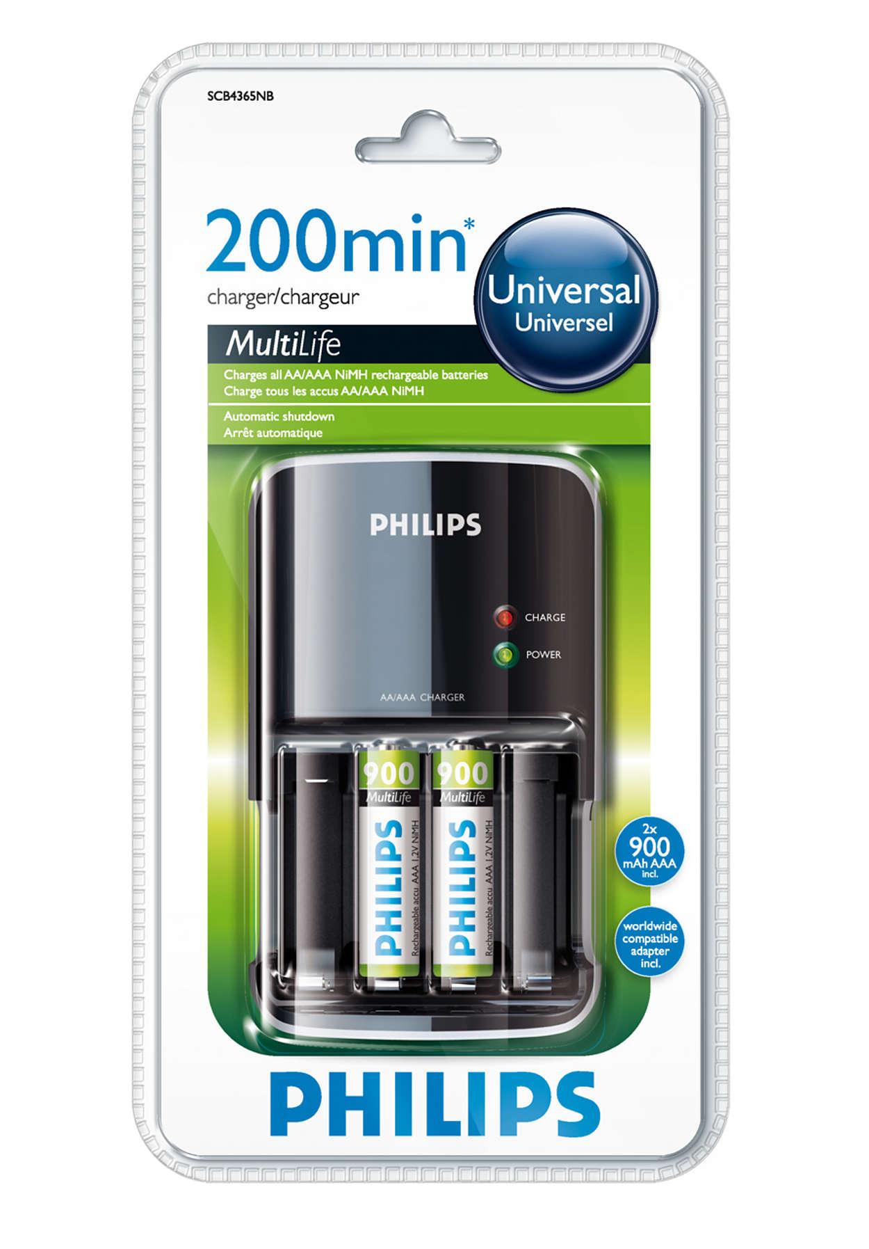 Plne nabité batérie za maximálne 200 minút