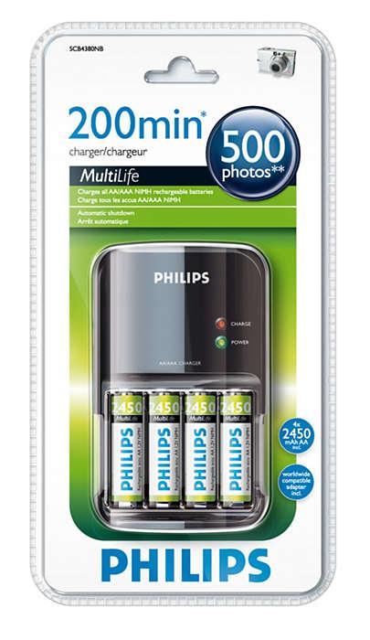Baterijos visiškai įkraunamos greičiau nei per 200 minučių