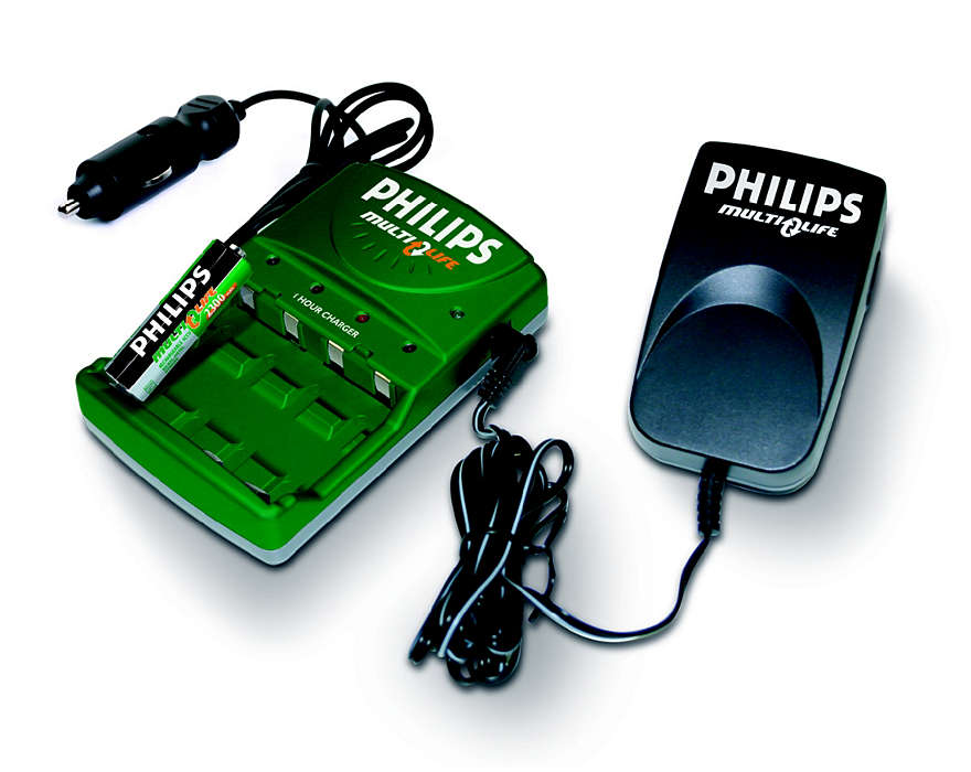 Fully charge 1 to 4 batteries in up to 45 minutes