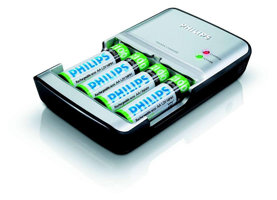 Charge complète des piles en 90minutes maximum