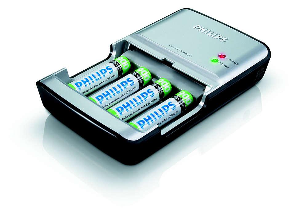 Carga las pilas por completo en menos de 100minutos