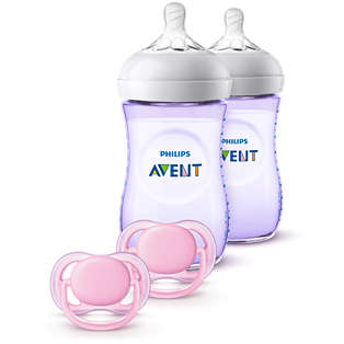 Avent Natural Baby Bottle Purple Gift Set