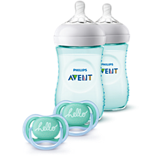 SCD113/24 Philips Avent Natural Baby Bottle Teal Gift Set