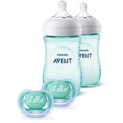 Avent Natural Baby Bottle Teal Gift Set