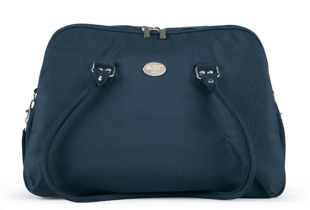 Stylish, elegant weekender bag