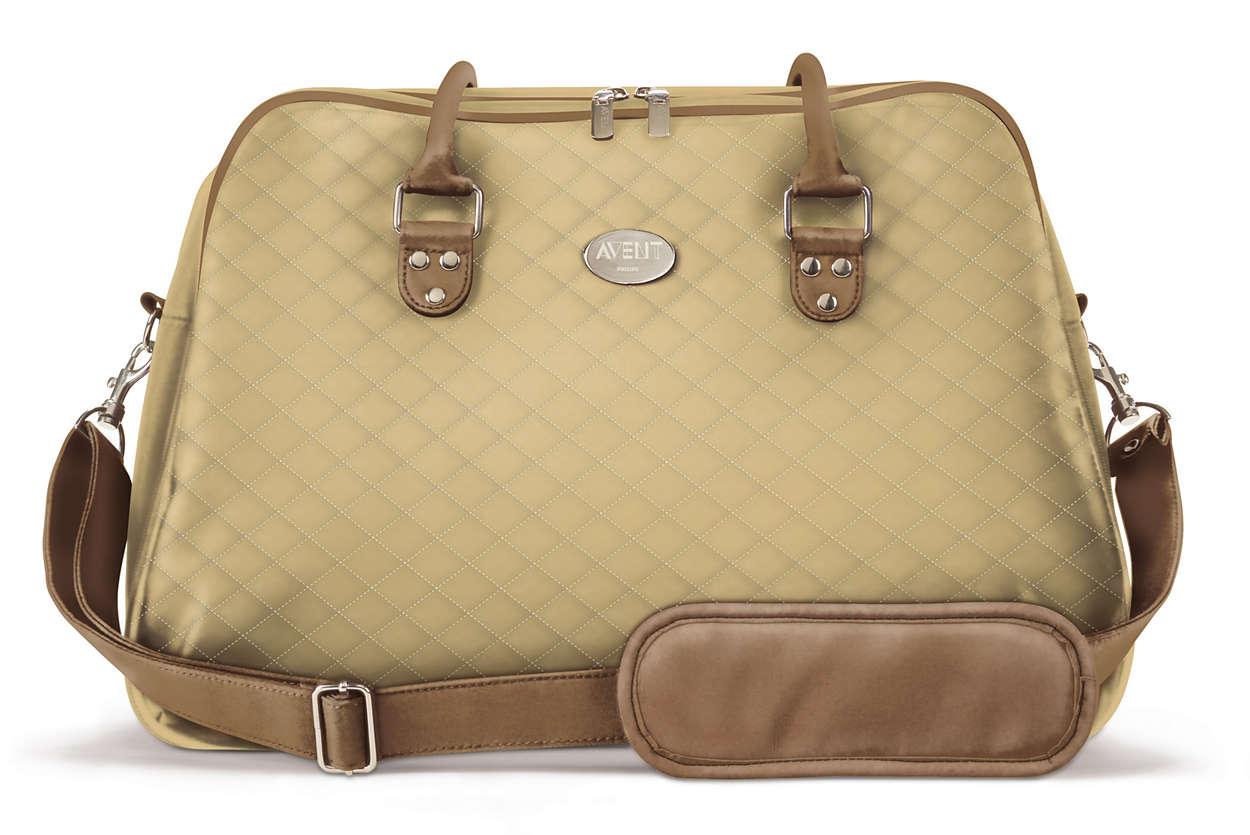 Стилна, елегантна чанта за почивните дни