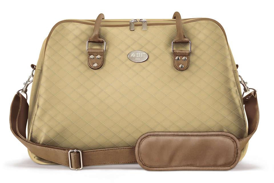 Stylish, elegant weekend bag