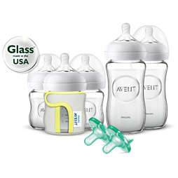 Avent Natural Glass Baby Bottle Gift Set