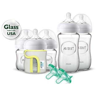 Avent Natural Glass Bottle Baby Gift Set