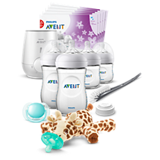 SCD205/08 Philips Avent Natural All-in-One Gift Set with Snuggle giraffe