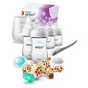 Avent Natural All-in-One Gift Set with Snuggle giraffe