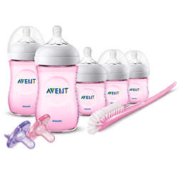 Avent Natural Baby Bottle Pink Gift Set