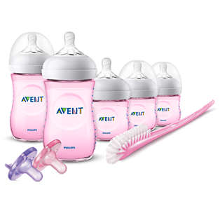 Avent Natural Baby Bottle Pink Gift Set