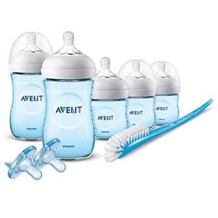 Avent Natural Baby Bottle Blue Gift Set