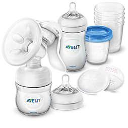 Avent Set ročne prsne črpalke in izdelkov za shranjevanje