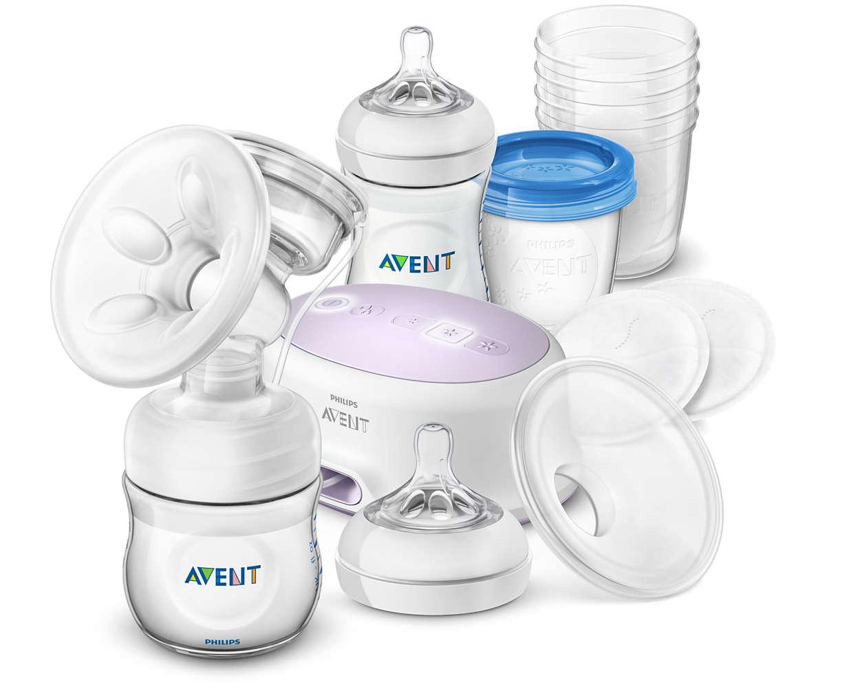 Mehr Komfort, mehr Milch.* Zum Abpumpen, Aufbewahren und Füttern