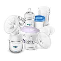 Avent Pompă de sân electrică simplă & set depozitare lapte