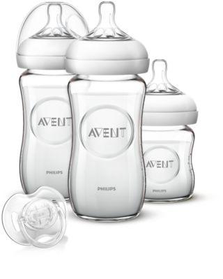 Bild von Avent Fütter-Set aus Glas für Neugeborene SCD291/02