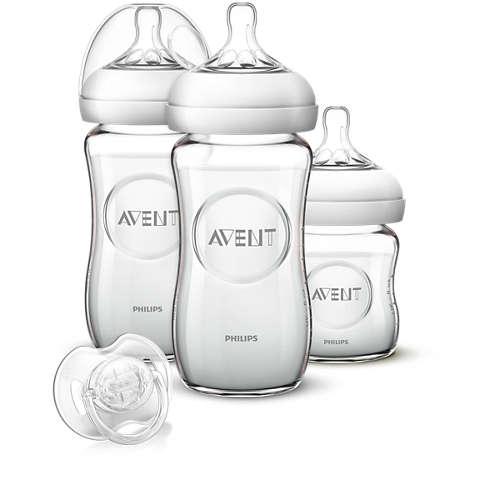 Avent Fütter-Set aus Glas für Neugeborene
