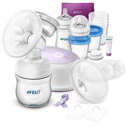Avent مجموعة الرضاعة الطبيعية الكهربائية والأحادية