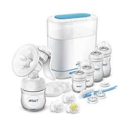 Avent Handmilchpumpen-Set mit Sterilisator