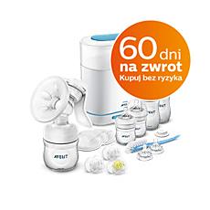 SCD293/00 - Philips Avent  Zestaw startowy z laktatorem i sterylizatorem