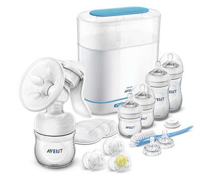 Več udobja, več mleka* Črpanje, hranjenje in sterilizacija