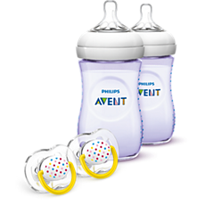 SCD693/23 Philips Avent Natural Baby Bottle Purple Gift Set