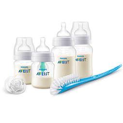 Avent Komplet stekleničke proti krčem z ventilom AirFree™
