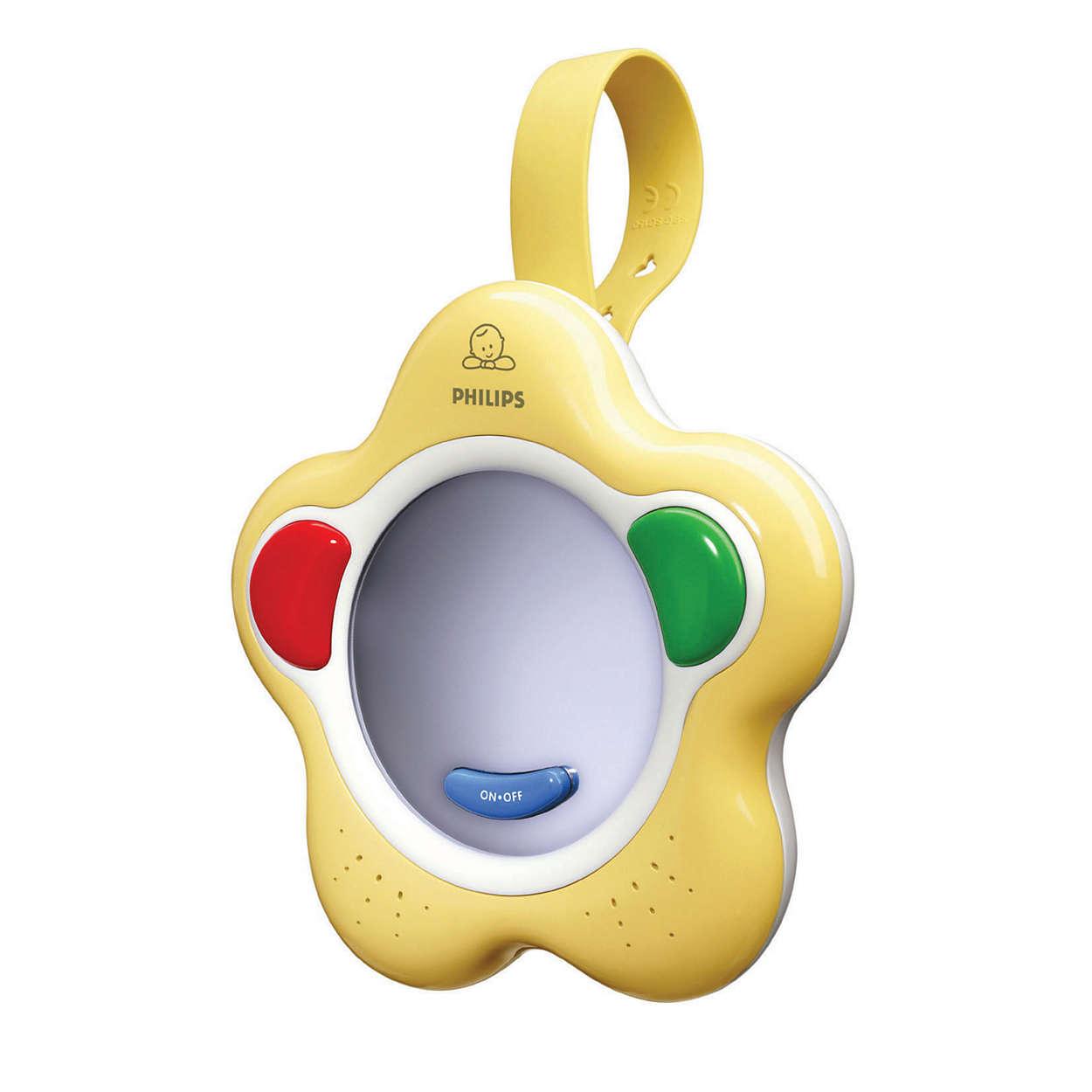 Поощрява първите звуци и думички на бебето