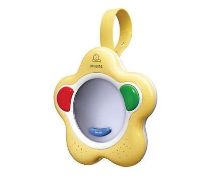 Encourages baby's first sounds and words
