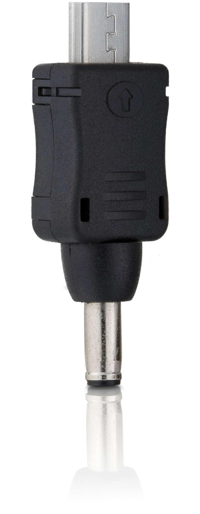 Anschlussstecker für Telefone mit Micro-USB-Anschluss