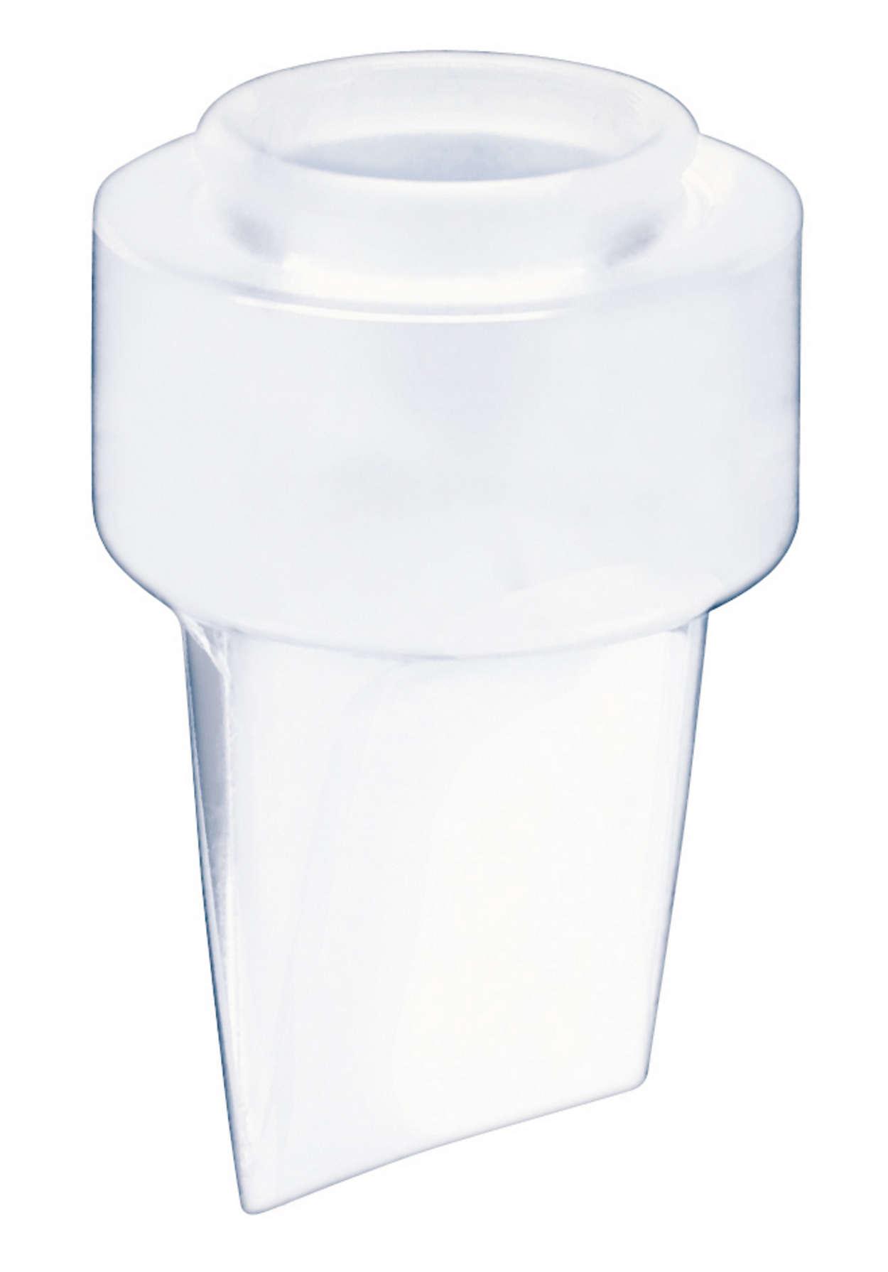 Gør det muligt at lade mælken flyde ind i flasken