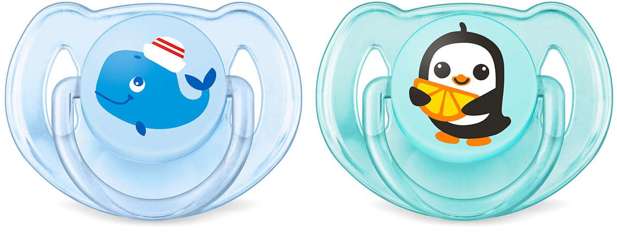 Zasnovano za enostavno pomirjanje dojenčka