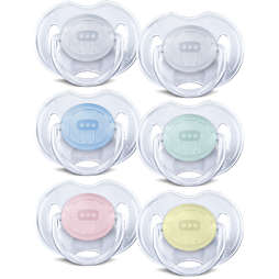 Avent Classic Translucent Pacifier 0-6m, 2 pack