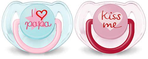 BPA-freie, kiefergerechte, klassische Schnuller (6bis 18Monate)