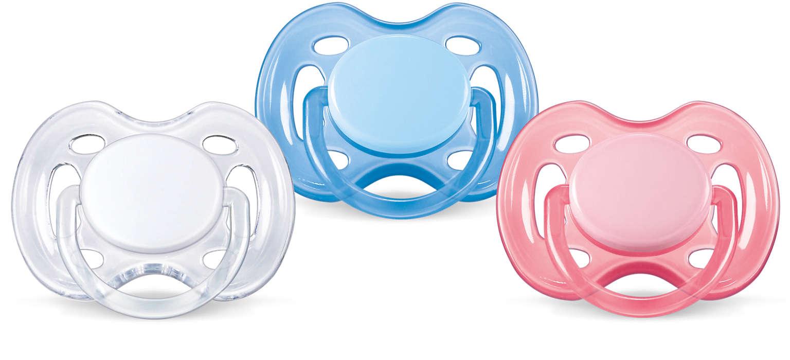 Jobb levegőáramlás az érzékenyebb bőrű babáknak. BPA mentes.