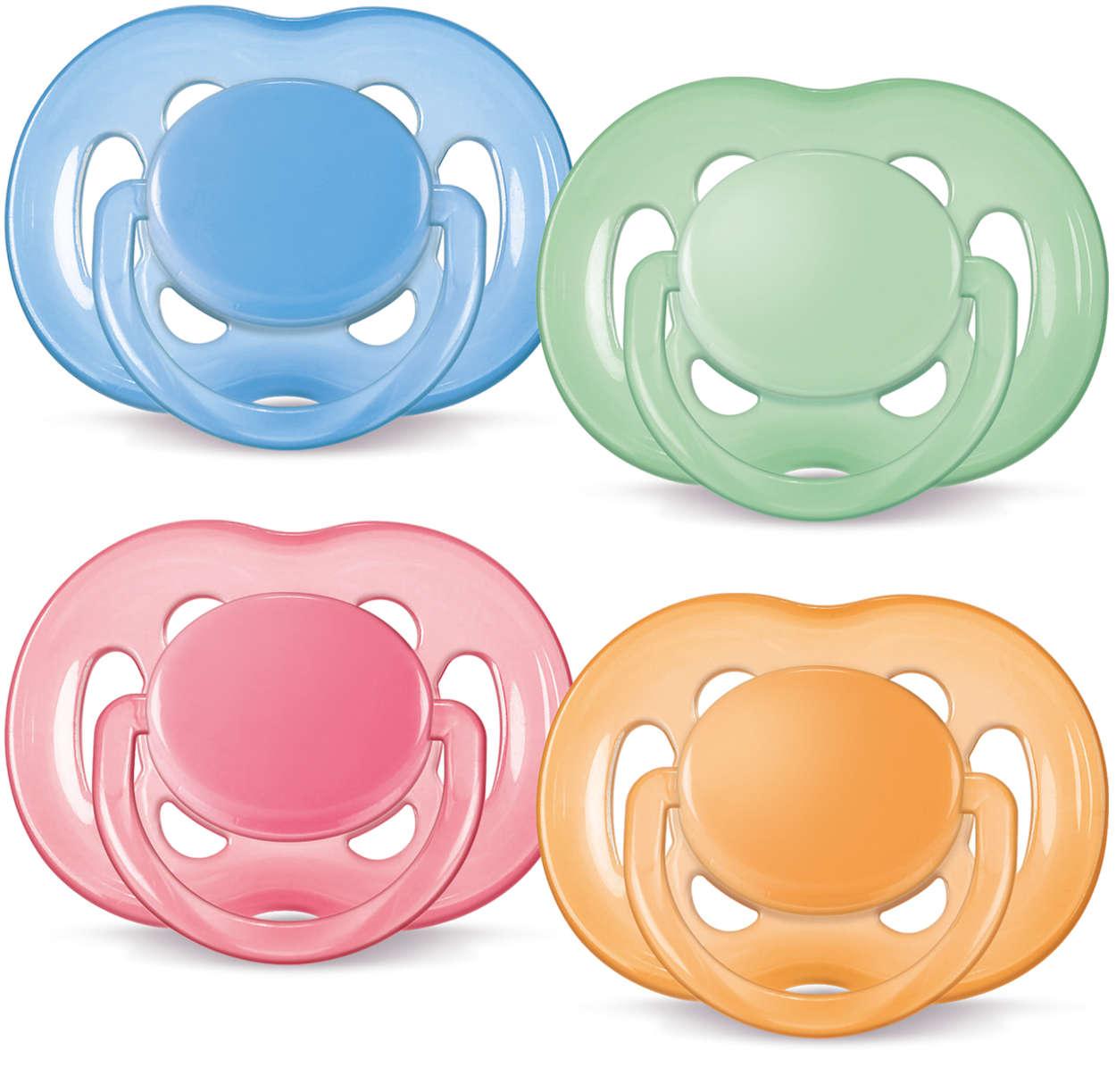 Más flujo de aire para pieles sensibles. Sin BPA.