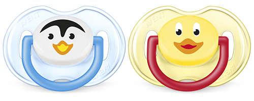 BPA-freie, kiefergerechte, klassische Schnuller (0bis 6Monate)
