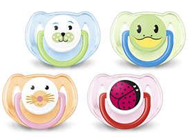 Ortodontisk och BPA-fri Classic-napp, 6–18m