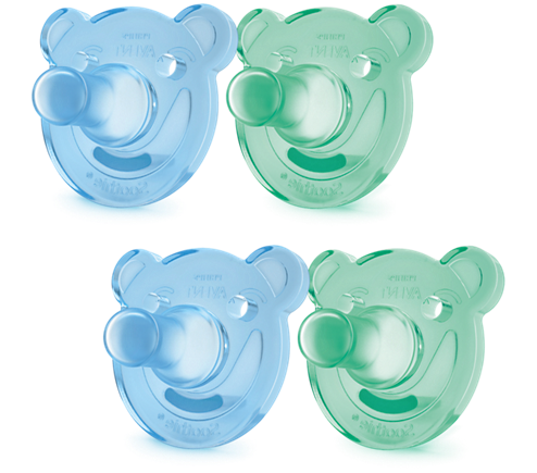 Philips Avent Soothie Shapes, 0-3 month, blue/green