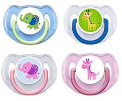 Chupetes decorados ortodónticos sin BPA de 6 a 18meses