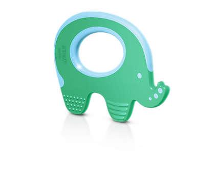 Rauhoittaa vauvan ikeniä hampaiden puhjetessa