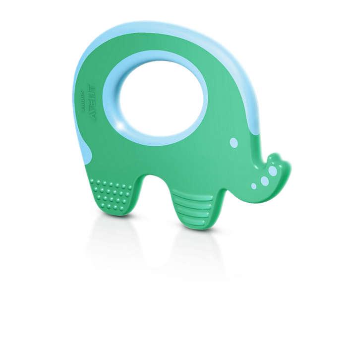 Ajuda a acalmar as gengivas do bebé durante os primeiros dentes