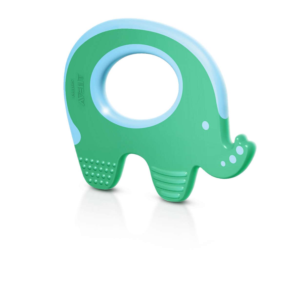 Diş çıkaran bebeklerin diş etlerinin rahatlamasına yardımcı olur