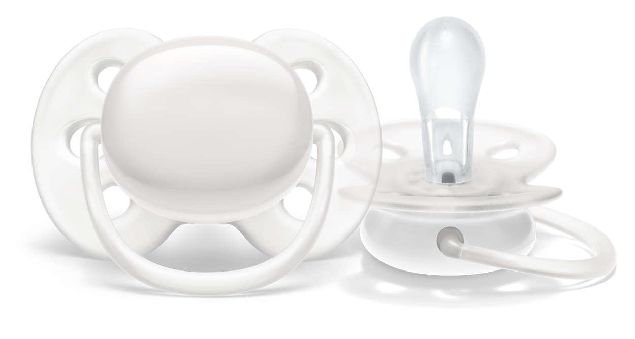 Ultraweicher Schnuller für die zarte Haut Ihres Babys*