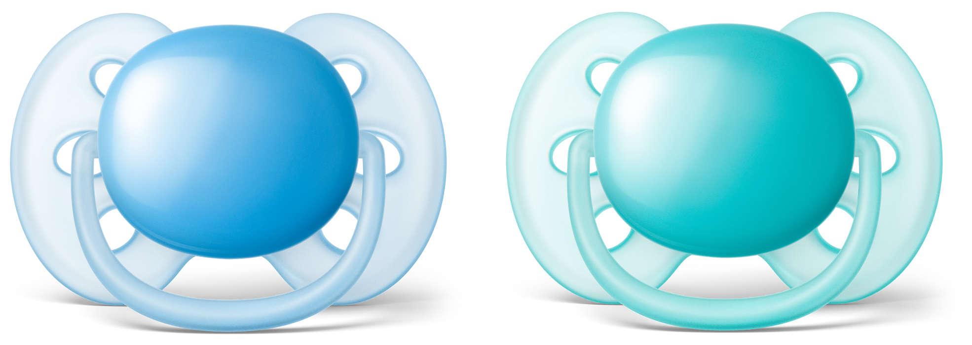 La sucette ultra-douce pour la peau fragile de votre bébé*