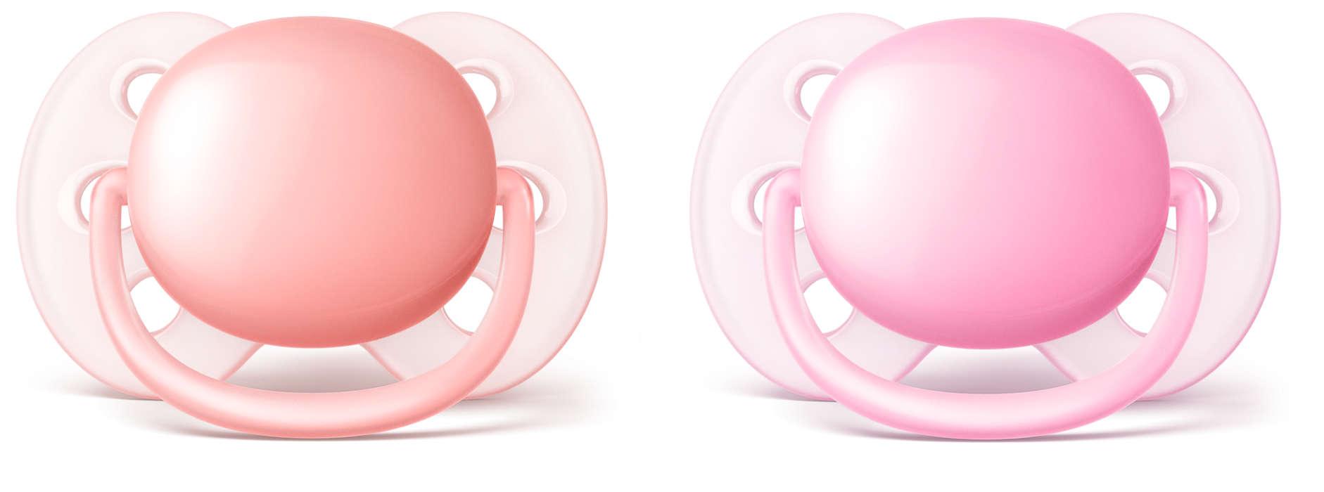 El chupete más suave para la delicada piel de su bebé*