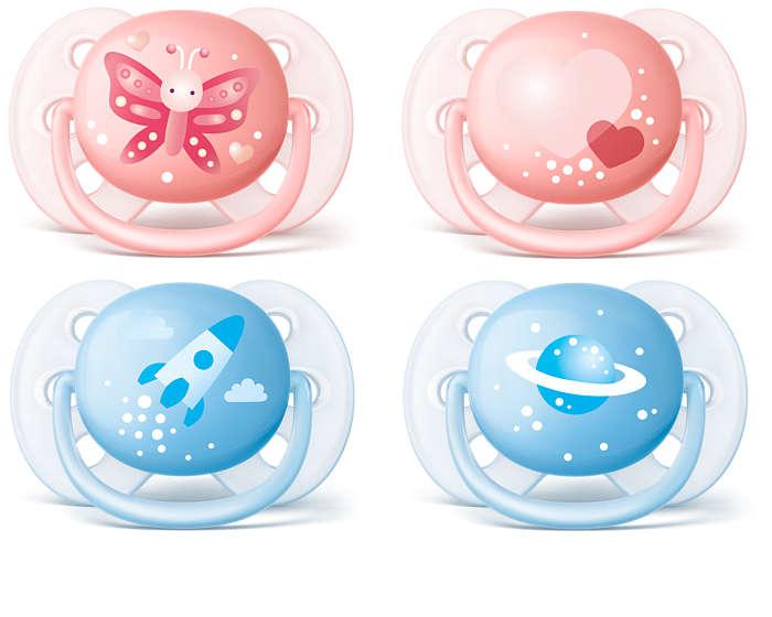 De zachtste speen voor de gevoelige huid van je baby*